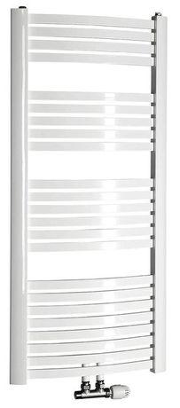 AQUALINE STING 55 x 123,7cm 589W oblý kúpeľňový radiátor, stredové pripojenie, biely, NG512