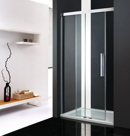 AQUATEK NOBEL B2 180cm dvere do niky, profil chróm, sklo číre, NOBELB2CH18062