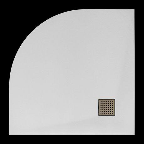 AQUATEK SMC ROCK 90cm štvrťkruhová sprchová vanička extra nízka, rádius 55cm, polymér, SMCROCK90OBL