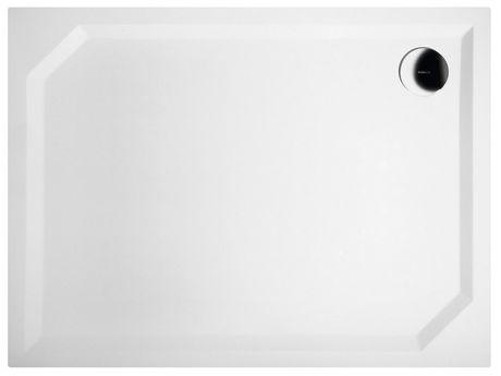GELCO SARA 100 x 75cm sprchová vanička obdĺžniková nízka hladká, s nožičkami, liaty mramor, HS10075