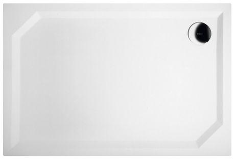 GELCO SARA 110 x 75cm sprchová vanička obdĺžniková nízka hladká, s nožičkami, liaty mramor, HS11075
