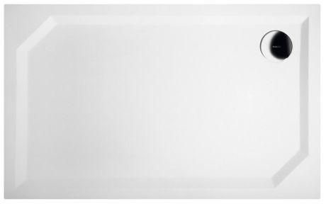 GELCO SARA 120 x 75cm sprchová vanička obdĺžniková nízka hladká, s nožičkami, liaty mramor, HS12075