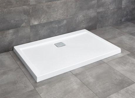 RADAWAY ARGOS D 110 x 90cm sprchová vanička obdĺžniková nízka, so sifónom, akrylát, 4AD911-01