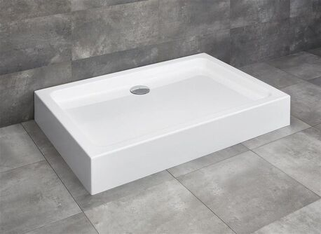 RADAWAY LAROS D 120 x 80cm sprchová vanička obdĺžniková, monoblok, s nožičkami a sifónom, akrylát, SLD81217-01