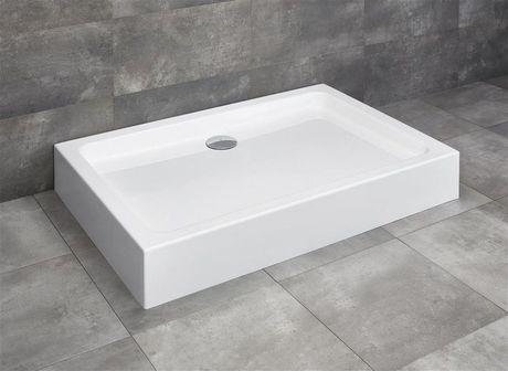 RADAWAY LAROS D 90 x 80cm sprchová vanička obdĺžniková, monoblok, s nožičkami a sifónom, akrylát, SLD8917-01