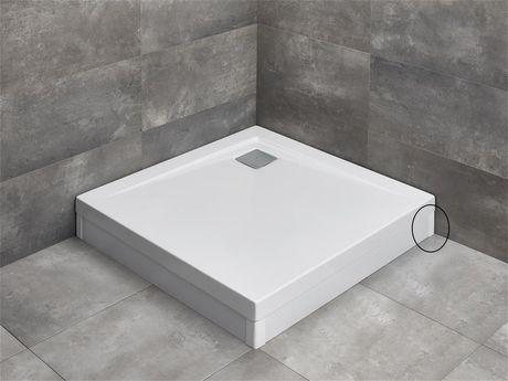 RADAWAY pravý koncový profil k panelom pre vaničky ARGOS, biely, 003-019000204