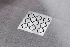 RAVAK SN501 105 x 105/50 podlahový vtok, plastový, mriežka antikora, X01435