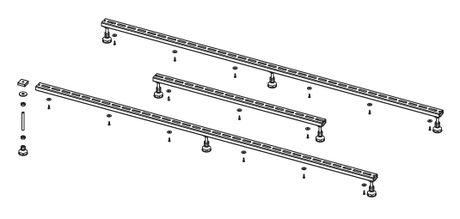 RIHO podporné nožičky pre vaničky Basel 406, 416, 432, POOTSET64