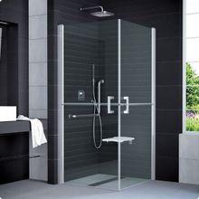 SANSWISS MOBILITY SLM4 ATYP 80 - 100cm ľavé sprchové dvere do kombinácie delené v polovici / kút rohový