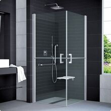SANSWISS MOBILITY SLM4 ATYP 80 - 100cm pravé sprchové dvere do kombinácie delené v polovici / kút rohový