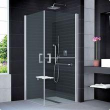 SANSWISS MOBILITY SLM5 ATYP 80 - 100cm pravé sprchové dvere do kombinácie delené v polovici / kút rohový