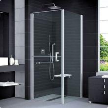 SANSWISS MOBILITY SLM6 ATYP 80 - 100cm ľavé sprchové dvere do kombinácie delené v polovici / kút rohový