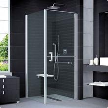 SANSWISS MOBILITY SLM6 ATYP 80 - 100cm pravé sprchové dvere do kombinácie delené v polovici / kút rohový