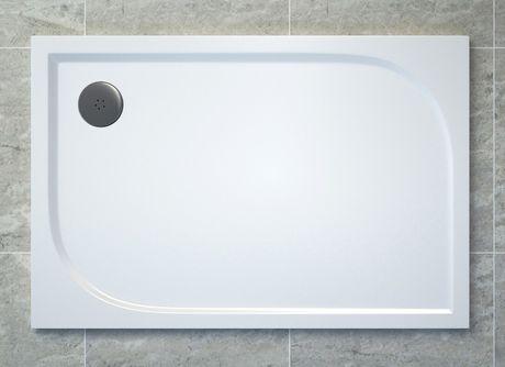 SANSWISS TRACY 80 x 120cm sprchová vanička obdĺžniková, liaty mramor, biela, WAA8012004