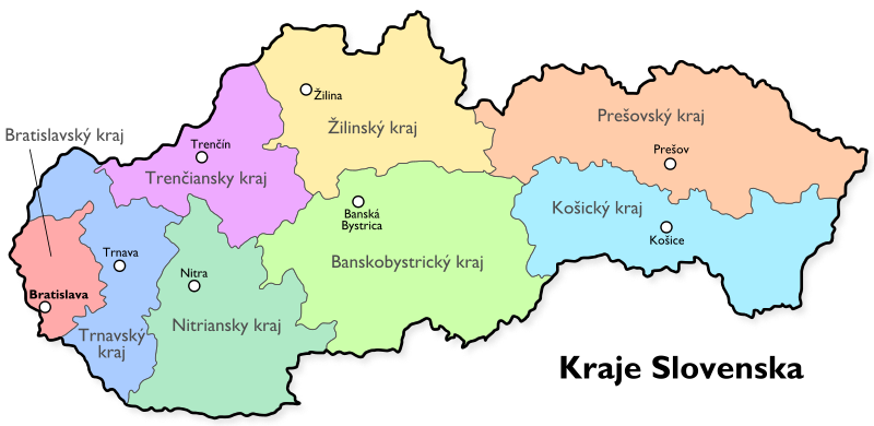 Rozdelenie krajov Slovenska