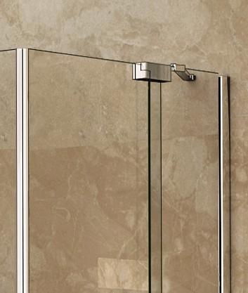 01869194f5614 AQUATEK PARTY B1 90cm dvere do niky, profil chróm, sklo číre, PARTYB1CH9062