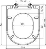 RAVAK UNI CHROME WC sedadlo, soft close, plast, biele, X01549