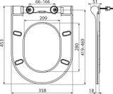 RAVAK UNI CHROME SLIM WC sedadlo, soft close, plast, biele, X01550