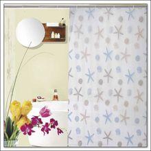 AQUALINE 180 x 200cm záves sprchový plastový, mušle a hviezdice, viacfarebný, ZV016