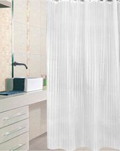 AQUALINE 180 x 200cm záves sprchový textilný, pruhy, biela, ZP001
