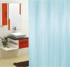 AQUALINE 180 x 200cm záves sprchový textilný, pruhy, modrá, ZP002