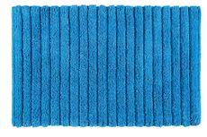 AQUALINE BOMBAY 80 x 50cm bavlnená predložka kúpeľňová protišmyková, modrá, BO508011