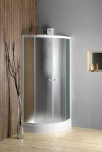 AQUALINE ARLEN 80cm sprchový kút štvrťkruhový, biely profil, matné sklo, YR800