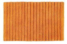 AQUALINE BOMBAY 80 x 50cm bavlnená predložka kúpeľňová protišmyková, oranžová, BO508067