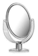 AQUALINE kozmetické zrkadielko obojstranné, 2x zoom, transparent, CO2018