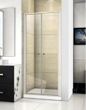 AQUATEK FAMILY B02 100cm sprchové dvere do niky, profil chróm