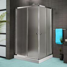 AQUATEK FAMILY R14 100 x 80cm sprchový kút obdĺžnikový, profil chróm