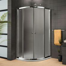AQUATEK FAMILY S4 80cm sprchový kút štvrťkruhový, profil chróm
