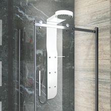 AQUATEK KRETA hydromasážny panel hliníkový, čierno-biely lesklý