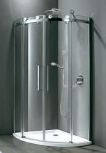 AQUATEK set TEKNO S4 90cm sprchový kút štvrťkruhový + vanička HARD 90 S2