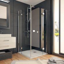 AQUATEK SMART A4 90cm sprchový kút štvorcový, profil chróm, sklo číre