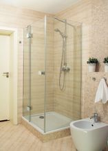AQUATEK SMART R13 100 x 80cm ľavý sprchový kút obdĺžnikový, profil chróm, sklo číre