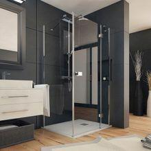 AQUATEK SMART R13 100 x 80cm pravý sprchový kút obdĺžnikový, profil chróm, sklo číre