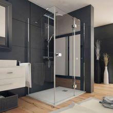 AQUATEK SMART R33 120 x 90cm pravý sprchový kút obdĺžnikový, profil chróm, sklo číre