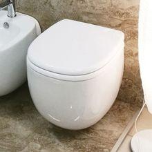 CERAMICA LATINA CARO 50,5cm WC závesné oválne, so sedátkom