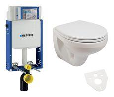 GEBERIT Kombifix akciový set WC závesné s predstenovým inštalačným modulom, splachovaním a sedátkom