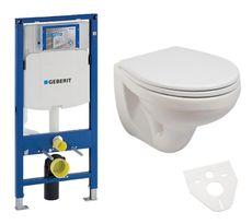 GEBERIT Duofix akciový set WC závesné s predstenovým inštalačným modulom, splachovaním a sedátkom