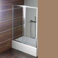 POLYSAN DEEP 120cm dvere do niky / sprchový kút obdĺžnikový rohový, profil chróm, sklo číre, MD1215