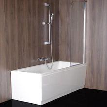 POLYSAN SPERA 75cm vaňová zástena rovná, hliník lesk, sklo číre, BS-75