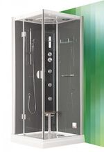 ROLTECHNIK DLS GROHE 90cm ľavý hydromasážny parný sprchový box štvorcový, 4G00116
