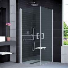 SANSWISS MOBILITY SLM5 ATYP 80 - 100cm ľavé sprchové dvere do kombinácie delené v polovici / kút rohový