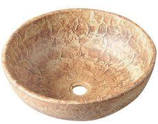 SAPHO PRIORI Ø42cm umývadlo na dosku okrúhle, bez prepadu, keramické, PI010