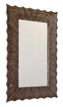 SAPHO SURYA 70 x 100cm zrkadlo v drevenom ručne vyrezávanom ráme, slonová kosť, IN142