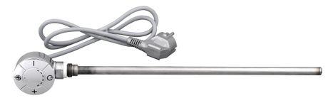 AQUALINE 500W elektrická vykurovacia tyč s termostatom do kúpeľnového radiátora, chróm, LT67445