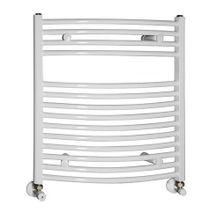 AQUALINE 50 x 65cm 319W oblý kúpeľňový radiátor, biely, ILO65E