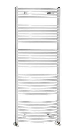 AQUALINE 75 x 170cm 1125W oblý kúpeľňový radiátor, biely, ILO67E